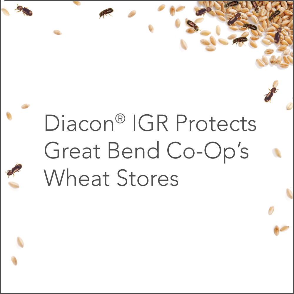 Diacon IGR protects great blend co-op's wheat stores.